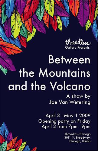 Joe Van Wetering show flyer